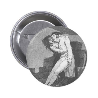 Francisco Goya- Love and Death Button