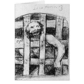 Francisco Goya- Lunatic behind Bars Card