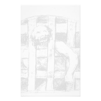 Francisco Goya- Lunatic behind Bars Personalized Stationery