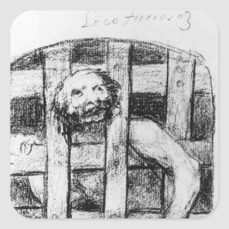 Francisco Goya- Lunatic behind Bars Stickers