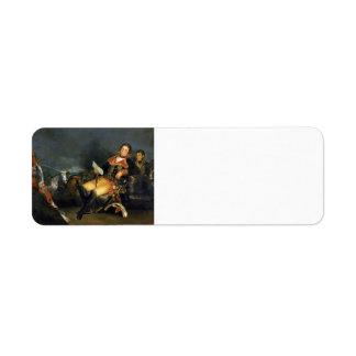Francisco Goya- Manuel Godoy, Duke of Alcudia Return Address Label