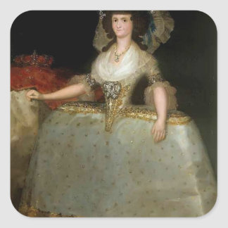 Francisco Goya- María of Parma wearing panniers Square Stickers