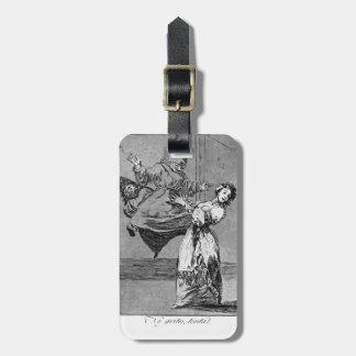 Francisco Goya- no grita, tonto Etiqueta Para Maleta
