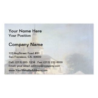 Francisco Goya- Pilgrimage to Church of San Isidro Business Card Template