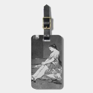 Francisco Goya- porque ella era susceptible Etiquetas Maletas