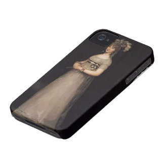 Francisco Goya-Portrait of the Countess of Chincon iPhone 4 Cases