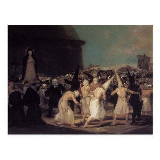 Francisco Goya- Procession of Flagellants Postcard