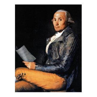 Francisco Goya, Sebasti?n Mart?nez 1792 Oil on can Postcard