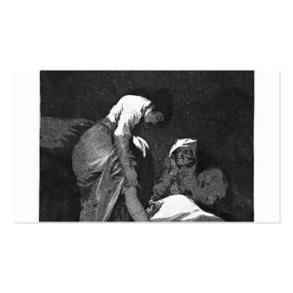 Francisco Goya- She is well pulled down Business Card Templates