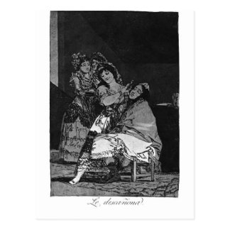 Francisco Goya- She leaves him penniless Postcard