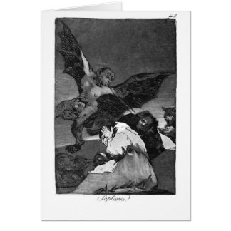 Francisco Goya- Squealers? Greeting Card