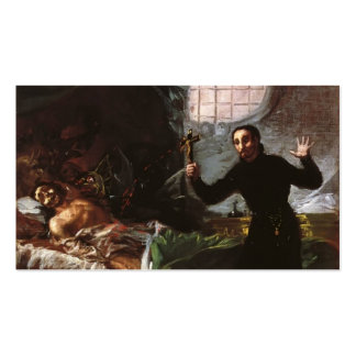 Francisco Goya- St. Francis Helping a Impenitent Double-Sided Standard Business Cards (Pack Of 100)