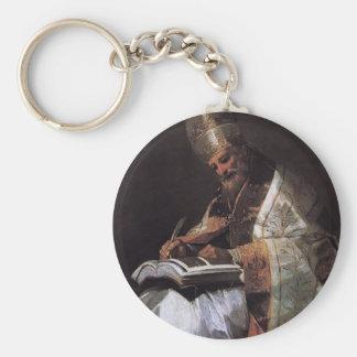 Francisco Goya- St Gregory el grande Llavero Redondo Tipo Pin