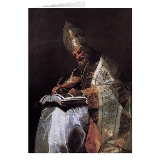 Francisco Goya- St Gregory el grande Tarjeta