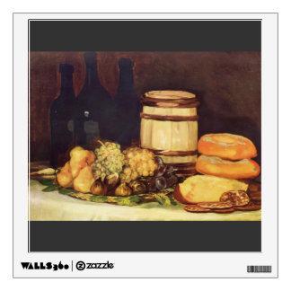 Francisco Goya- Still life fruit bottles breads Wall Stickers