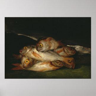 Francisco Goya - Still Life with Golden Bream Poster