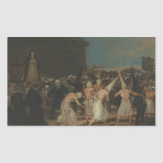 Francisco Goya - The Flagellants Rectangular Sticker