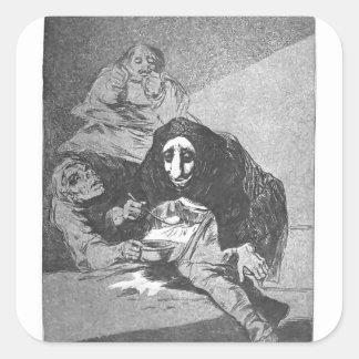 Francisco Goya- The shy man Sticker