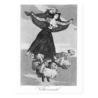 Francisco Goya- They have flown Postcard