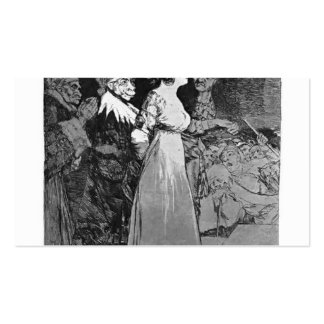 Francisco Goya- They say 'yes' and give their hand Business Card Template