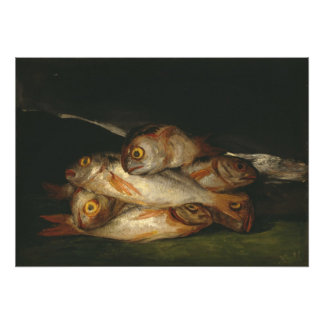 Francisco Goya - todavía vida con la brema de oro Fotografía