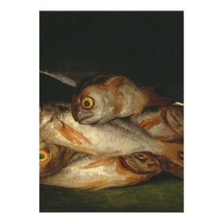 Francisco Goya - todavía vida con la brema de oro Invitaciones Personalizada