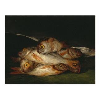 Francisco Goya - todavía vida con la brema de oro Postal
