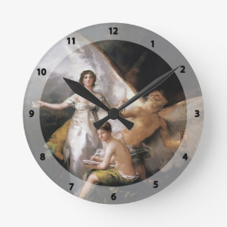 Francisco Goya- Truth Rescued by Time, Witnessed Wallclocks