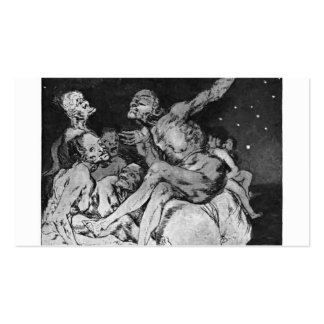 Francisco Goya- When day breaks we will be off Business Cards