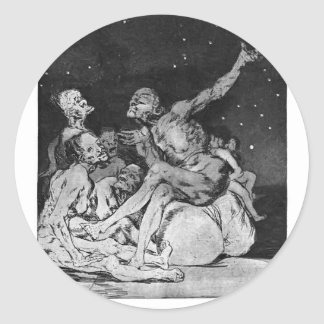Francisco Goya- When day breaks we will be off Stickers