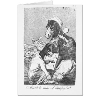 Francisco Goya- Will the student be wiser Greeting Card