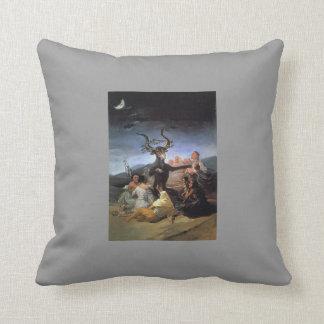 Francisco Goya- Witches Sabbath Throw Pillows