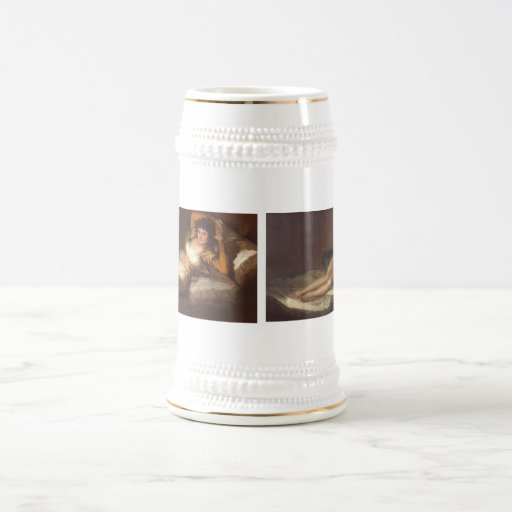 Francisco Goya's The Clothed Maja & The Nude Maja 18 Oz Beer Stein
