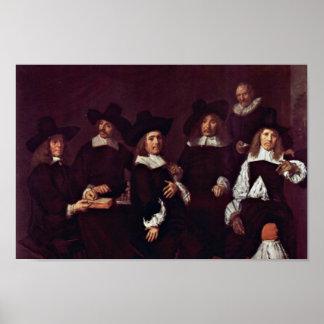 Francisco Hals - agrupe el retrato de los regentes Póster