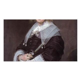 Francisco Hals- una señora holandesa Tarjetas De Visita