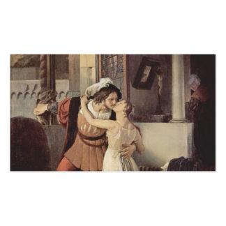 Francisco Hayez- el beso pasado de Romeo y de Juli Tarjeta De Negocio
