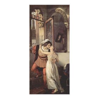Francisco Hayez- el beso pasado de Romeo y de Juli Diseños De Tarjetas Publicitarias