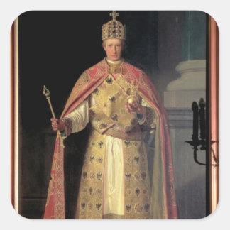 Francisco II, emperador romano santo Calcomanías Cuadradass