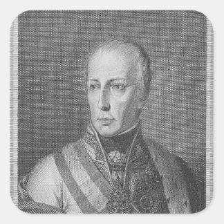 Francisco II, emperador romano santo Pegatina Cuadradas Personalizadas