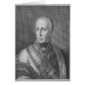 Francisco II, emperador romano santo Tarjetón