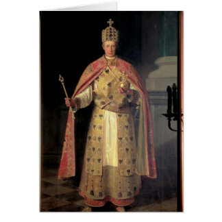 Francisco II, emperador romano santo Tarjeton