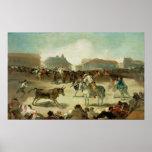 Francisco Jose de Goya el | una corrida del pueblo Póster