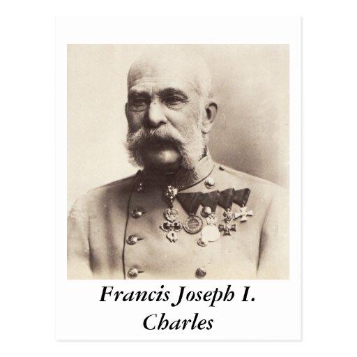 Francisco José I. Charles Postcard Tarjetas Postales