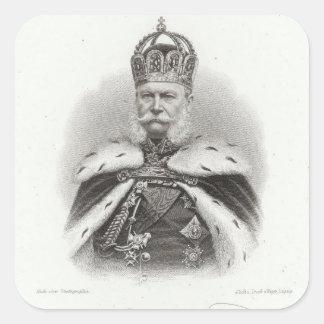 Francisco-José I de Austria Pegatina Cuadradas