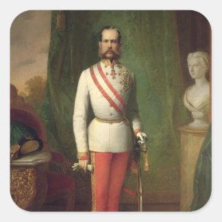 Francisco José I Pegatina Cuadrada