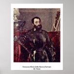 Francisco Maria Della Rovere (retrato) por Titian Póster