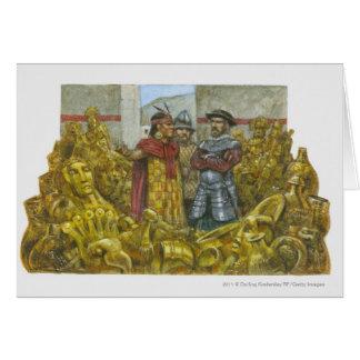 Francisco Pizarro next to Inca Emperor Atahualpa Cards