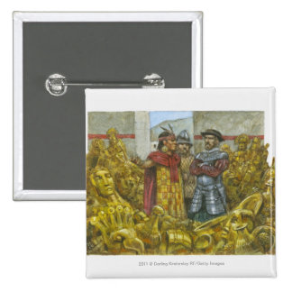 Francisco Pizarro next to Inca Emperor Atahualpa Pinback Button