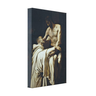 Francisco Ribalta - Christ and St Bernard Gallery Wrapped Canvas
