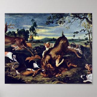 Francisco Snyders - caza de los ciervos Póster